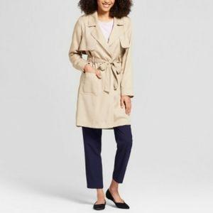 A new day khaki midi tranch lightweight coat